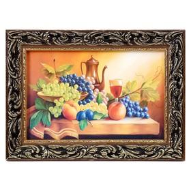 Картина 'Натюрморт с виноградом'  27х37 см Ош