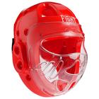 Шлем для рукопашного боя FIGHT EMPIRE, размер L, цвет красный