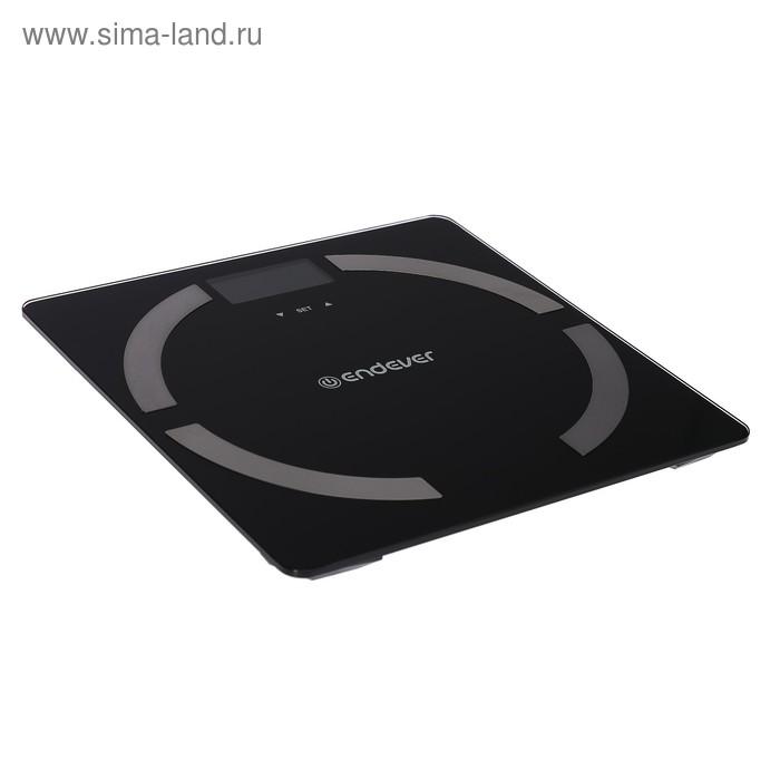 Весы напольные Endever Aurora-554, электронные, диагностические, до 180 кг, черные
