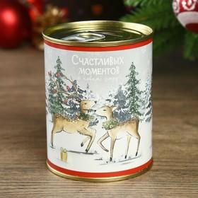Копилка-банка металл 'Счастливых моментов в Новом году' 7,3х9,5 см Ош