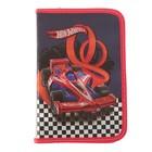 Пенал широкий, 1 отделение на молнии Mattel Hot Wheels, фольга + конгрев пустой, полипропиленовое покрытие