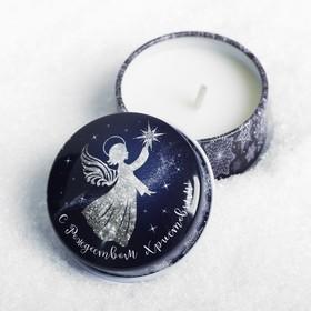 Свеча в баночке «Сeребряный ангел» Ош