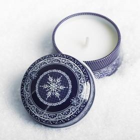 Свеча в баночке «Сeребряное Рождество» Ош