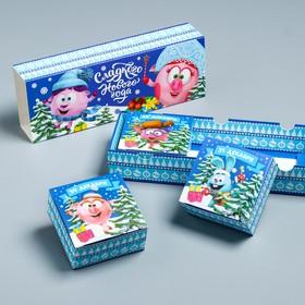 Подарочная коробка «С Новым Годом!», Смешарики, 27,2 х 9,4 х 4,8 см