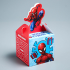 """Коробка складная """"С Новым годом!"""", Человек-паук, 9 х 9 х 9 см"""