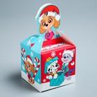 Подарочная коробка «С Новым Годом!», PAW PATROL, 9 х 9 х 9 см
