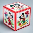 Подарочная коробка «С Новым Годом!», Микки Маус и друзья, 9 х 9 х 9 см