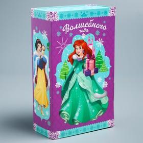 Подарочная коробка «С Новым Годом!», Принцессы, 21,1 х 20,2 х 6 см
