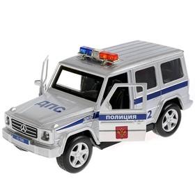 Машина металлическая инерционная Mercedes-Benxz G-class «Полиция» 12 см, световые и звуковые эффекты