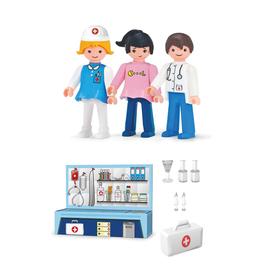 Игровой набор «Больница», с фигурками доктора, пациента и медсестры