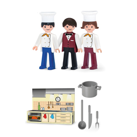 Игровой набор «Кухня», с фигурками поваров и официанта