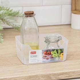 Корзина для хранения econova Scandi, 1,2 л, 17×12×7,5 см, цвет прозрачный Ош