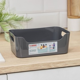 Корзина для хранения Scandi, 3,1 л, 24×17×9 см, цвет МИКС