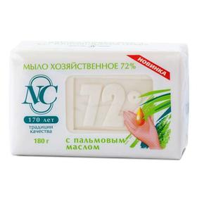 Мыло хозяйственное 72% Невская косметика, с пальмовым маслом, 180 г