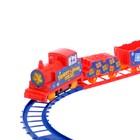 Железная дорога «Новогодний поезд», работает от батареек - Фото 2