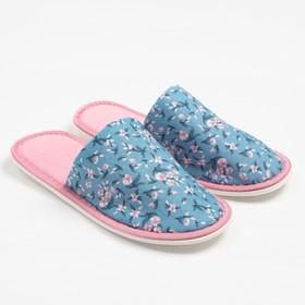 Тапочки женские цвет голубой, размер 35 Ош