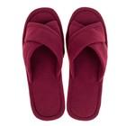 Тапочки женские цвет бордовый, размер 35 - Фото 2