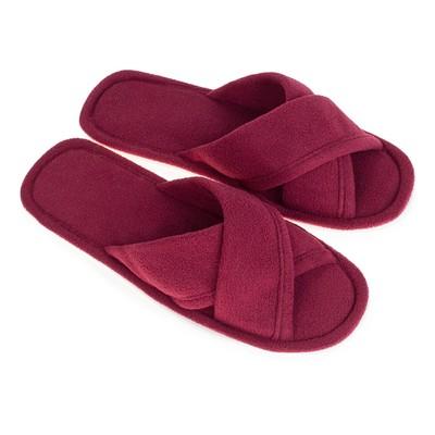 Тапочки женские цвет бордовый, размер 35 - Фото 1
