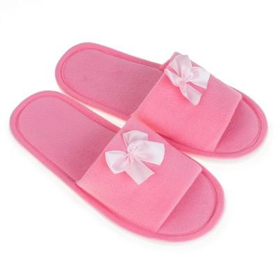 Тапочки женские цвет розовый, размер 36-37 - Фото 1