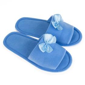 Тапочки женские цвет голубой, размер 35