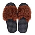 Тапочки женские цвет коричневый, размер 35