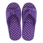 Тапочки женские цвет фиолетовый, размер 35 - Фото 2