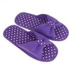 Тапочки женские цвет фиолетовый, размер 35 - Фото 1
