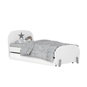 Кровать детская Polini kids Mirum 1915 c ящиком, цвет белый Ош