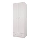 Шкаф двухсекционный Polini kids Simple с 1 ящиком, белый