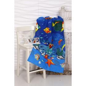 Вафельное полотенце пляжное Риф 80х150 см, разноцветный, хлопок 100%, 160 г/м2 Ош