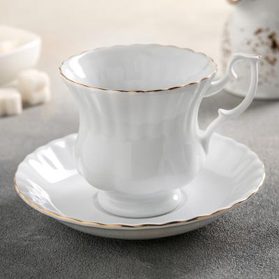 Чайная пара «Золотая отводка», 220 мл - Фото 1