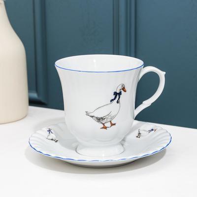 Чайная пара высокая «Гуси», 400 мл - Фото 1