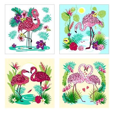 Разделочная доска-подставка «Фламинго», 18×18 см, цвет МИКС - Фото 1