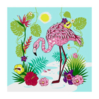 Разделочная доска-подставка «Фламинго», 18×18 см, цвет МИКС - Фото 2