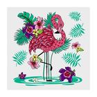 Разделочная доска-подставка «Фламинго», 18×18 см, цвет МИКС - Фото 3
