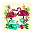 Разделочная доска-подставка «Фламинго», 18×18 см, цвет МИКС - Фото 4