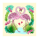 Разделочная доска-подставка «Фламинго», 18×18 см, цвет МИКС - Фото 5