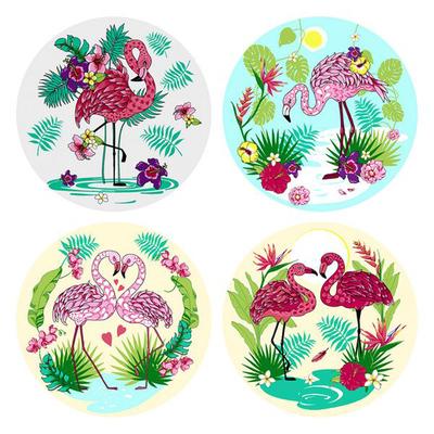 Разделочная доска-подставка «Фламинго», d=20 см, цвет МИКС