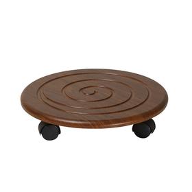 Комплект напольных подставок «Спираль» (2 шт), 345 × 345 × 70 мм, цвет орех