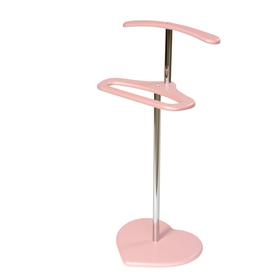 Вешалка детская «Сердечко», 415 × 305 × 840 мм, цвет розовый