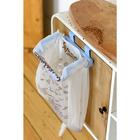 Многофункциональный держатель на дверцу шкафа, цвет голубой