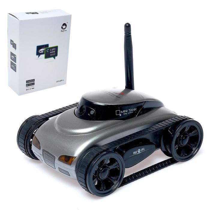 Вездеход радиоуправляемый «Шпион» с видеокамерой, управление с телефона, световые эффекты, цвета МИКС