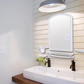 """Набор для ванной комнаты """"Стима"""", цвет снежно-белый"""