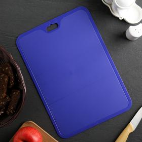 Доска разделочная Funny XL, 25×35 см, цвет лазурно-синий