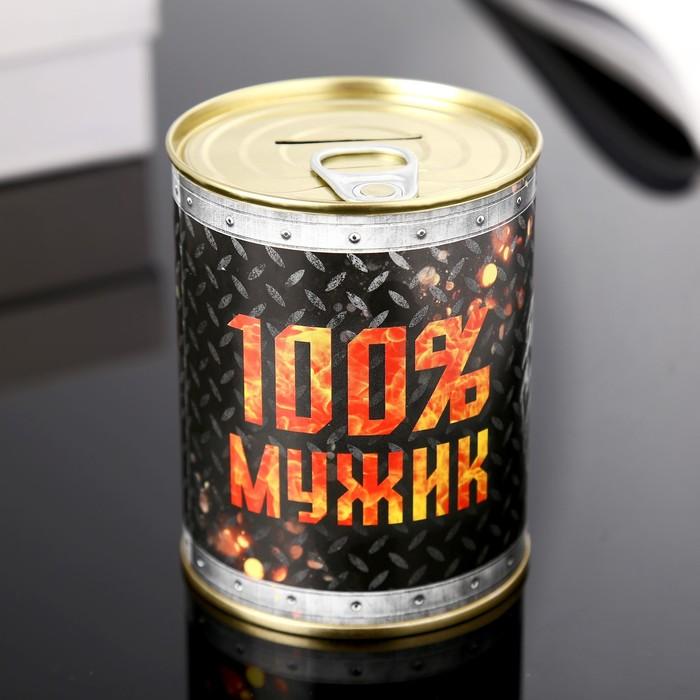 Копилка-банка металл Мужик сказал 7,3х9,5 см МИКС