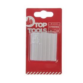 Стержни клеевые Top Tools 42E081, 50 мм, d=8 мм, 12 шт., прозрачные