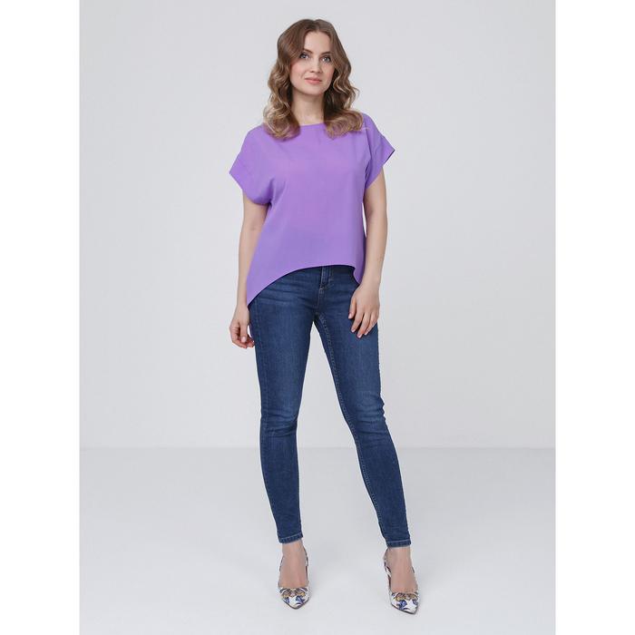 Блузка женская, размер 42, цвет сиреневый