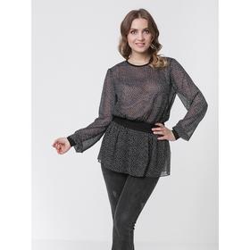 Блузка женская, размер 44, цвет чёрный