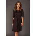 Платье женское, размер 42, цвет коричневый