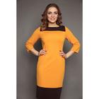 Платье женское, размер 42, цвет горчичный